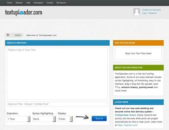 textuploader.com screenshot