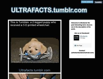 Thumbshot of Ultrafactsblog.com