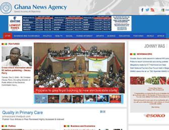 ghananewsagency.org screenshot