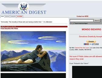 Main page screenshot of americandigest.org