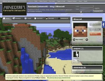 Main page screenshot of minecraft.bloblo.pl