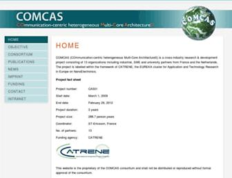 Main page screenshot of comcas.eu