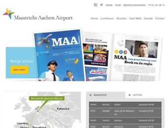 Main page screenshot of maa.nl