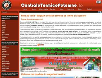 Main page screenshot of centraletermicepelemne.ro