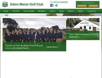 adaremanorgolfclub.com screenshot