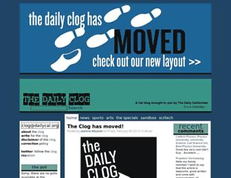 Main page screenshot of clog.dailycal.org