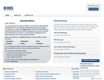 Main page screenshot of rbs.in
