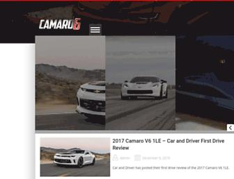 camaro6.com screenshot