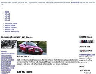 Main page screenshot of m3forum.net