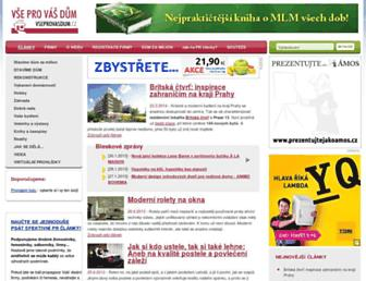 Main page screenshot of vseprovasdum.cz