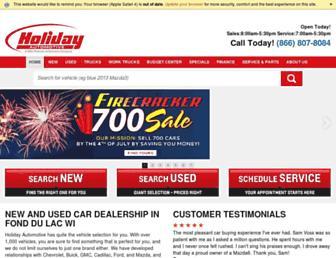 holidayautomotive.com screenshot