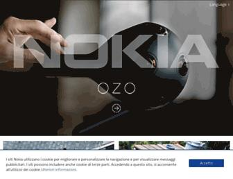 Main page screenshot of nokia.it