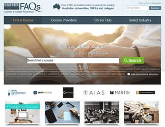 m.careerfaqs.com.au screenshot