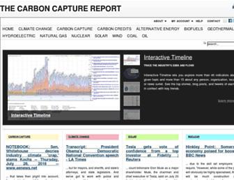 Main page screenshot of carboncredits.carboncapturereport.org