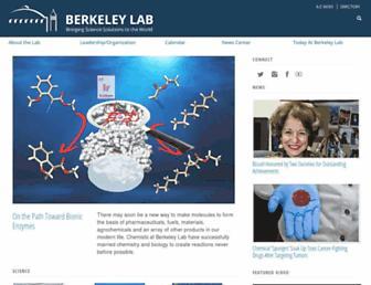 Main page screenshot of lbl.gov