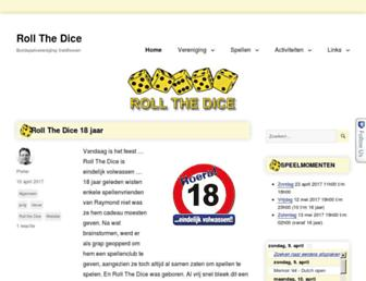 Main page screenshot of rollthedice.nl