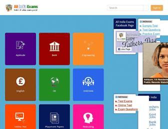 allindiaexams.in screenshot