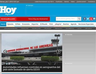 Main page screenshot of hoy.com.do