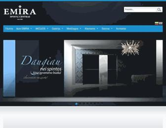 Main page screenshot of emira.lt