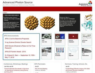 aps.anl.gov screenshot
