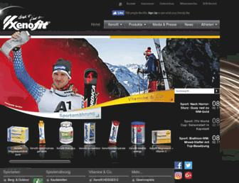 Main page screenshot of xenofit.de