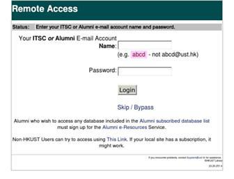 Main page screenshot of lib.ezproxy.ust.hk