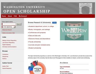 openscholarship.wustl.edu screenshot