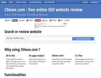 chlooe.com screenshot