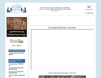 Main page screenshot of christian-chats.net