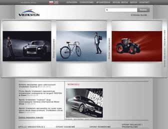 Main page screenshot of vredestein.pl