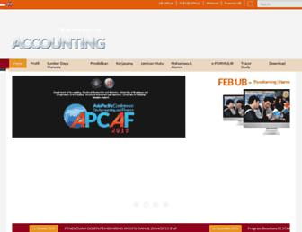 Main page screenshot of accounting.feb.ub.ac.id