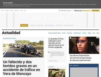 Main page screenshot of heraldo.es
