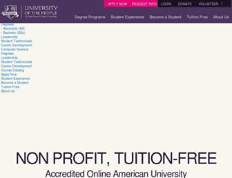 uopeople.edu screenshot