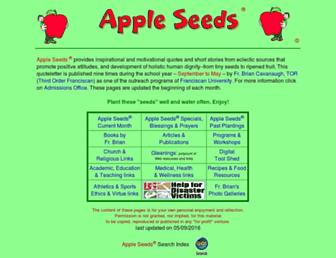 Main page screenshot of appleseeds.org