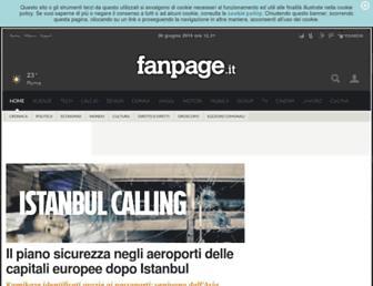 Main page screenshot of fanpage.it