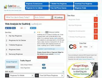 sudhirdj.com.cutestat.com screenshot