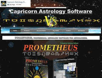 capricorn-astrology-software.com screenshot