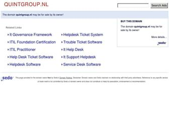 Main page screenshot of quintgroup.nl