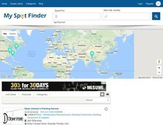 myspotfinder.com screenshot