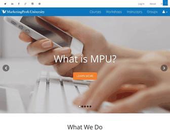 Thumbshot of Marketingprofsu.com