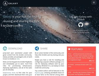 galaxy.ansible.com screenshot
