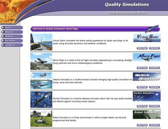 qualitysimulations.com screenshot