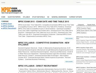 mpsc.tnpscquestionpapers.com screenshot