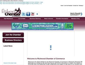 web.richmondchamber.com screenshot