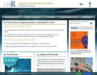 agence-nationale-recherche.fr screenshot