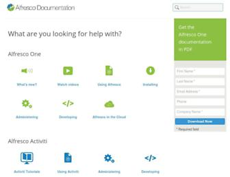 docs.alfresco.com screenshot
