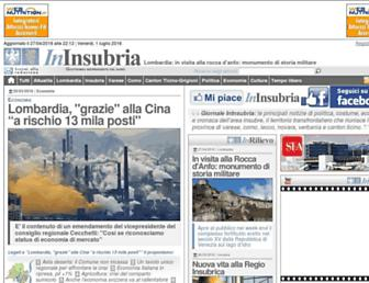 Main page screenshot of ininsubria.it