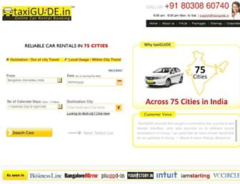 taxiguide.in screenshot