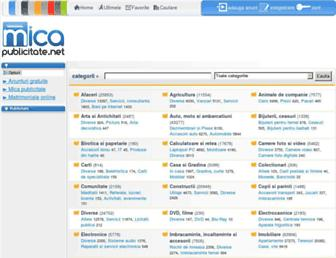Main page screenshot of micapublicitate.net