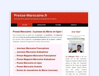 Main page screenshot of presse-marocaine.fr